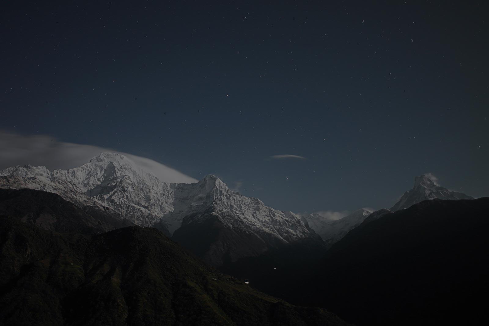 snow-mountains-sky-night