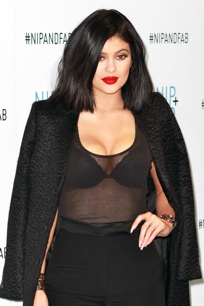 Kylie Jenner global ambassador for Nip+Fab with founder Maria Hatzistefanis attends photocall at Vue Westfield London  Featuring: Kylie Jenner Where: London, United Kingdom When: 14 Mar 2015 Credit: Phil Lewis/WENN.com