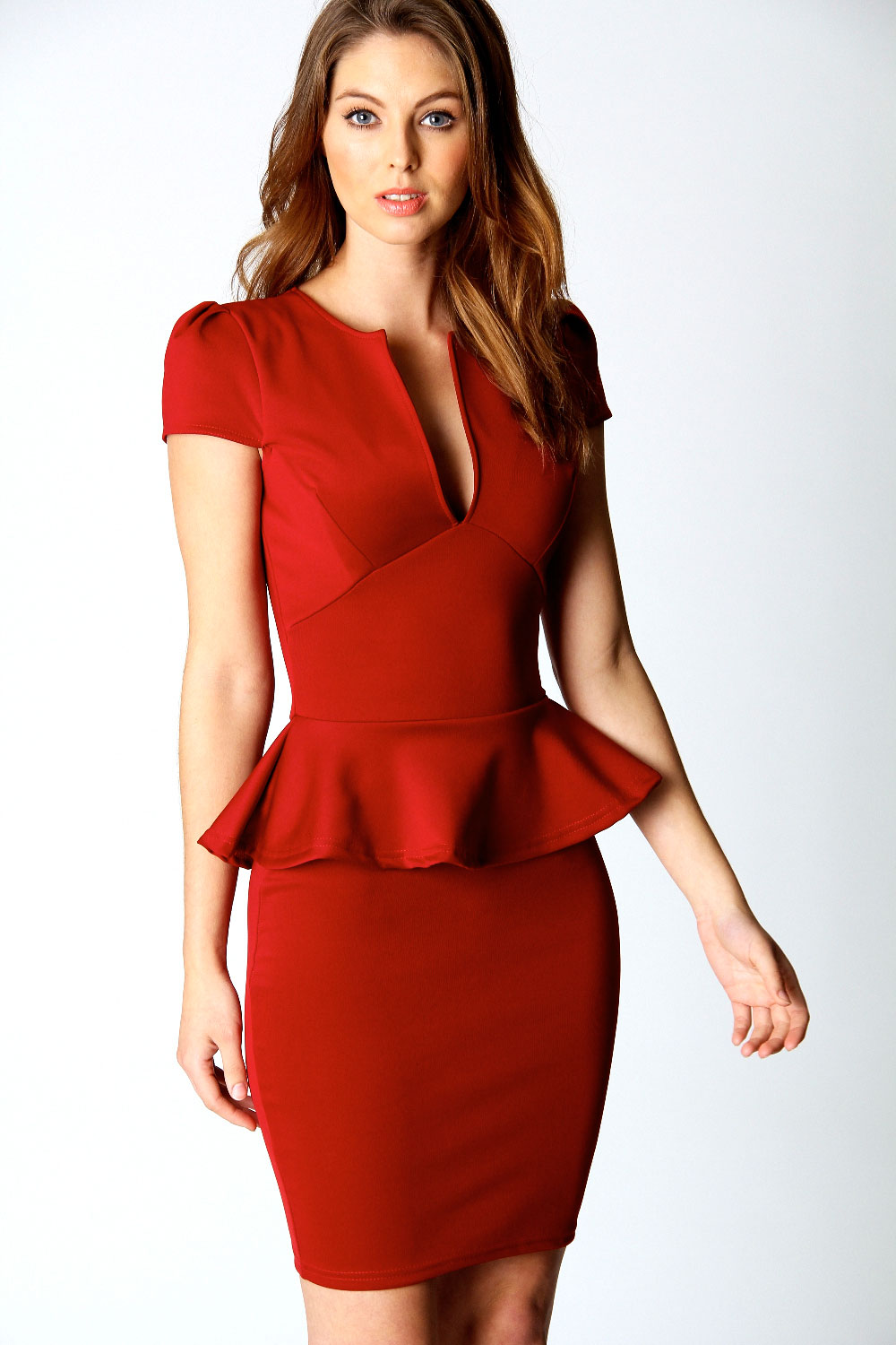 peplum-red-dress