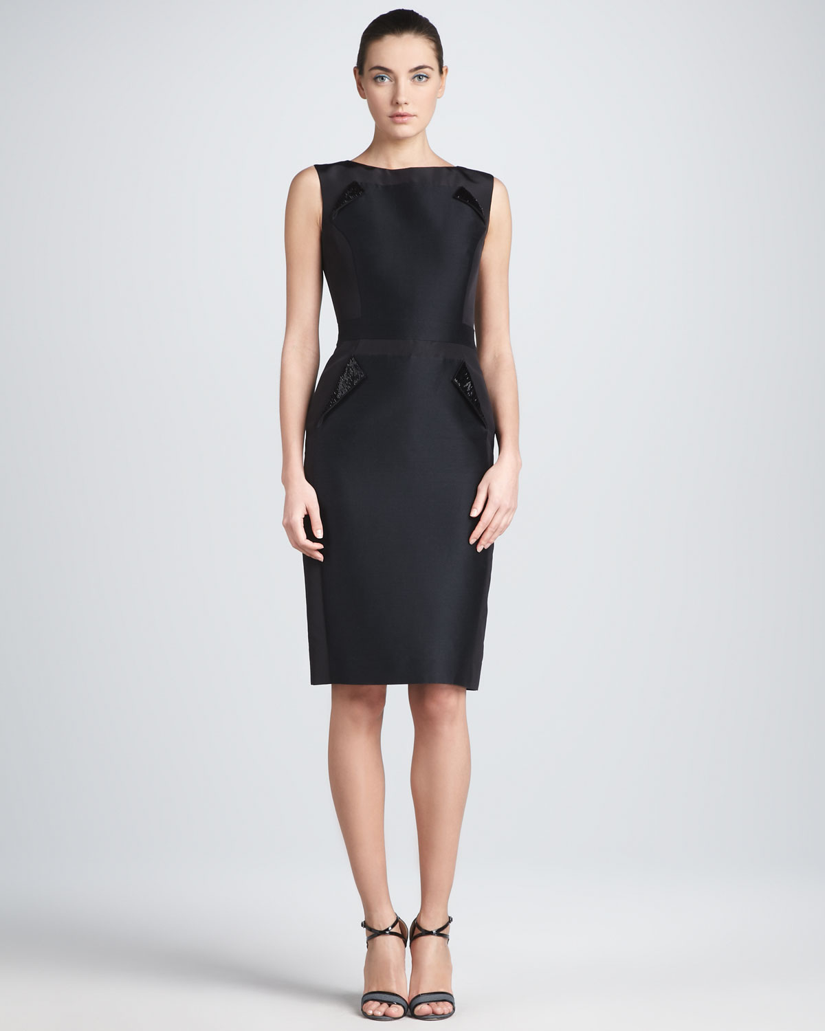 carolina-herrera-black-sleeveless-mikado-sheath-dress-product-1-6359139-097640784
