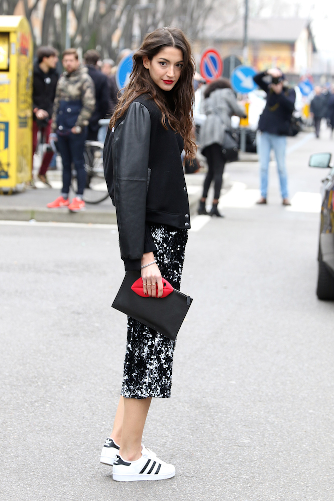 MILAN, ITALY - FEBRUARY 26: A guest is seen in the streets of Milan during Milan Fashion Week 2015 on February 25, 2015 in Milan, Italy. (Photo by Antonio de Moraes Barros Filho/WireImage)